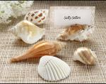 shells by the sea authentic shell placecard holders with matching placecards