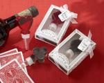 lucky in love translucent playing card bottle stoppers