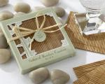 natural bamboo eco friendly coaster favors
