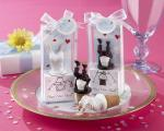 head over heels bride or groom bottle stoppers
