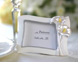 swaying calla lily pearlescent place card photo frame