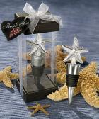 elegant starfish design bottle stopper favors