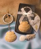 scallop shell key chain